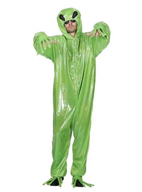 Disfraz de Alien verde para adulto