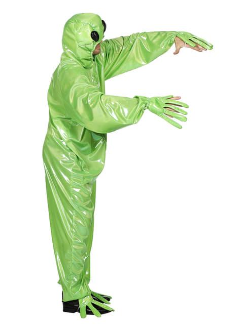 Disfraz de Alien verde para adulto - adulto