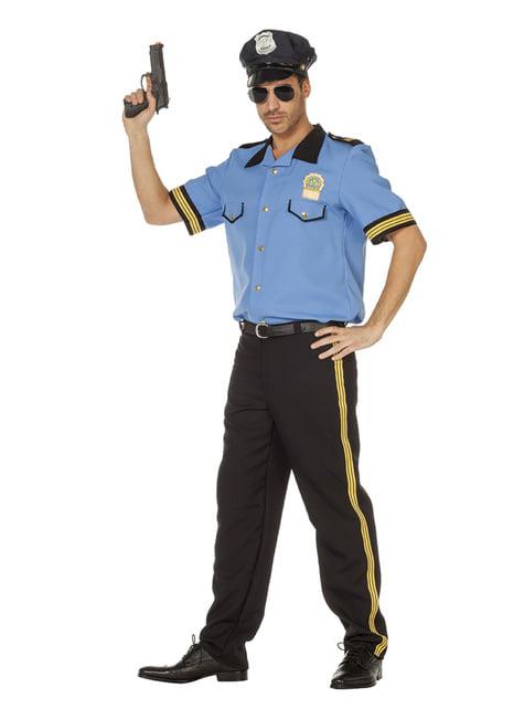 Disfraz de policía azul para hombre - hombre