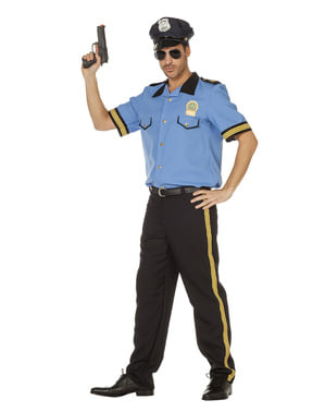 Blue police costume for men