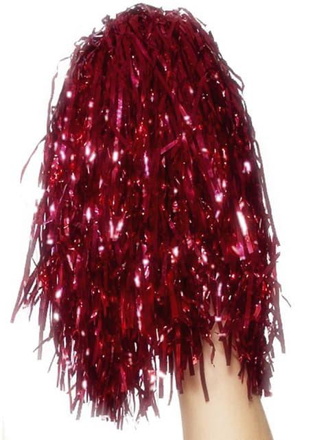 Pompons rouges métallique