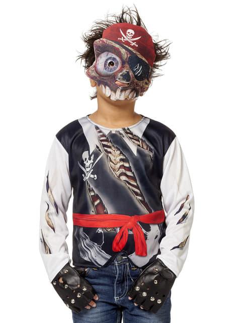 Maskeraddräkt pirat svart för barn