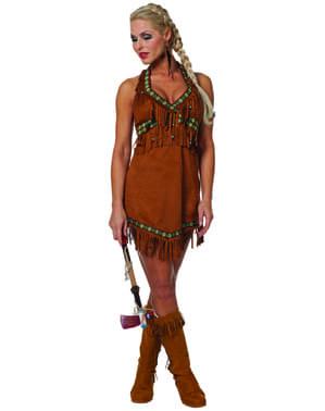 Sexy Indianer kostyme til dame