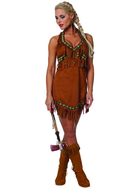 Sexy Indianerin Kostüm für Damen