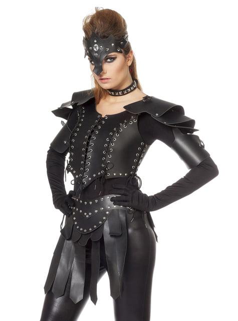 Disfraz de Guerrero vikingo negro para mujer