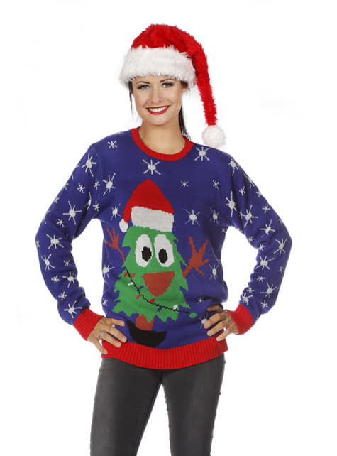 Blue christmas jumper for adults