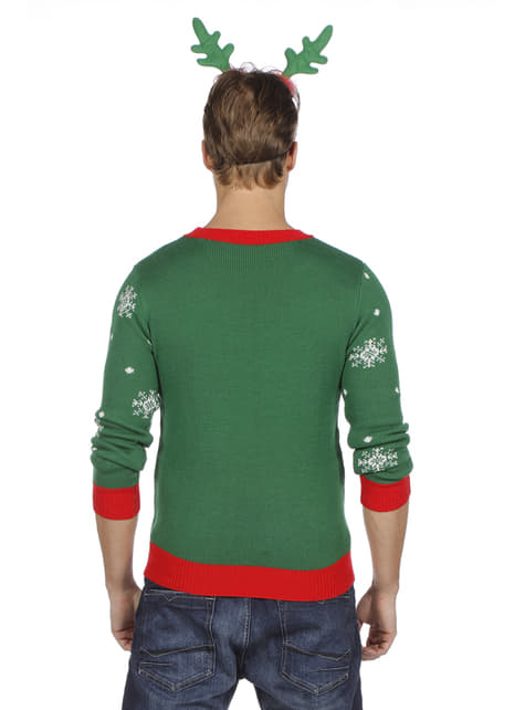 Green christmas jumper for adults