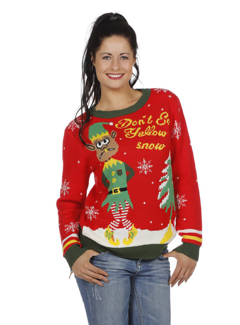 Red christmas jumper for adults