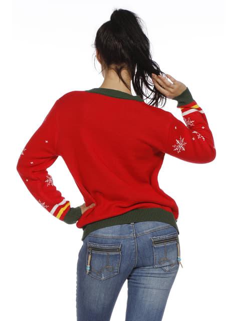 Camisola natalícia vermelha para adulto