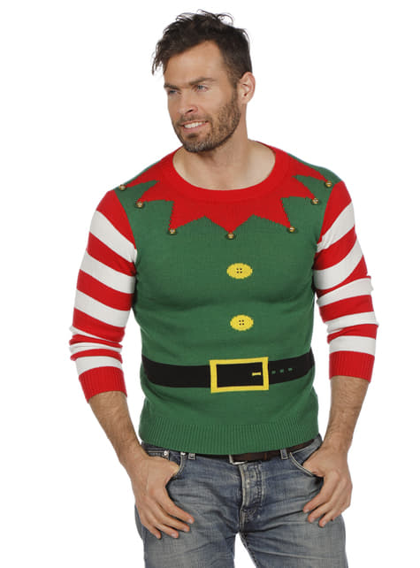 Green elf jumper for adults