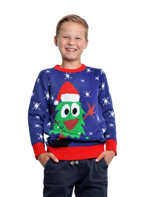Blue christmas jumper for kids
