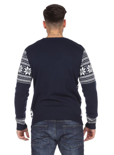Jersey navideño clásico azul para adulto - adulto