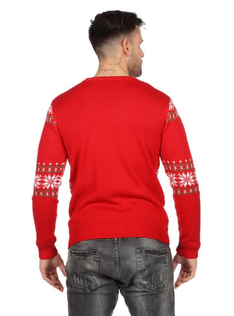 Klassisk rød julegenser til voksne