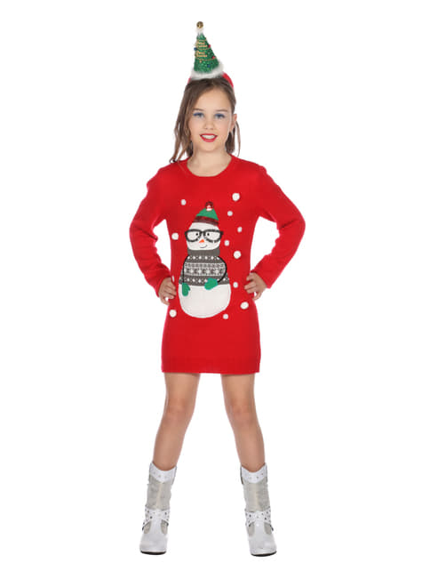 Red Christmas dress for girls