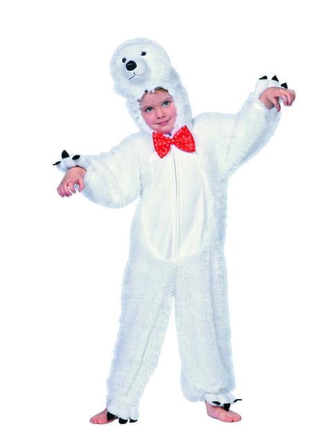 White polar bear costume for kids