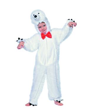 Fato de urso polar branco infantil