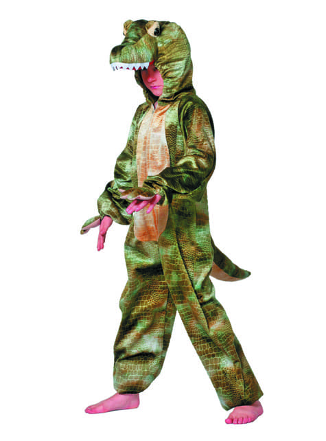Fato de crocodilo aterrador infantil