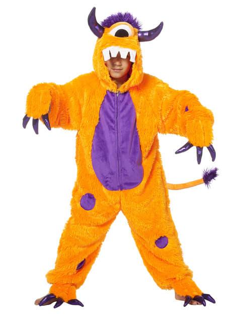 Disfraz de cíclope naranja infantil