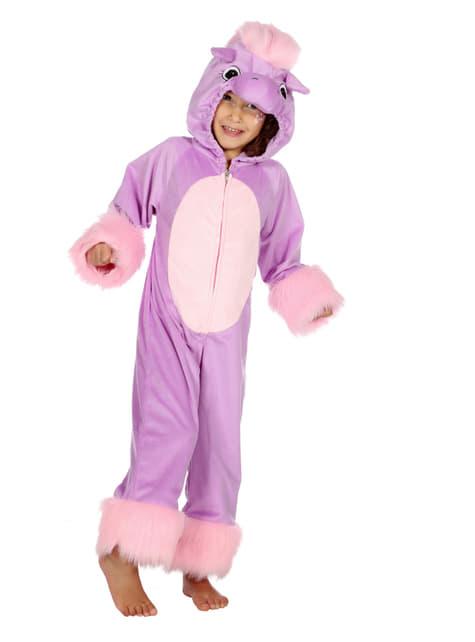 Purple pony costume for kids