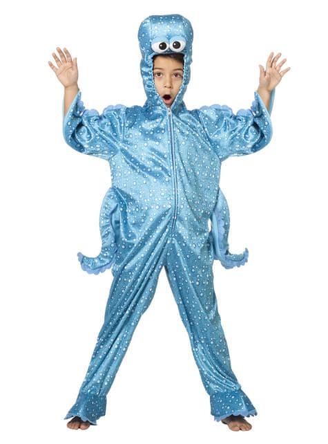 Blauw octopus kostuum voor kinderen
