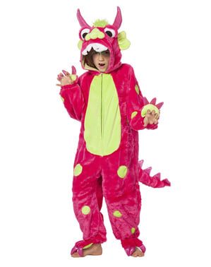 Pink monster costume for kids