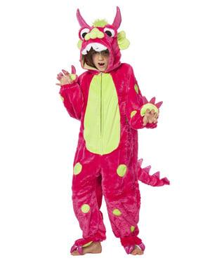 Monster Kostüm rosa für Kinder