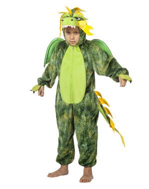 Chinesischer Drache Kostüm grün für Kinder