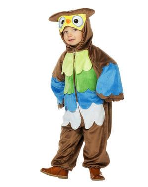Eulen Kostüm braun für Kinder