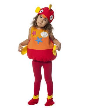 Costum de Pește portocaliu pentru bebeluși