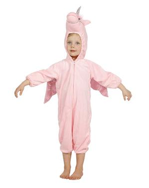 Pinkki yksisarvis asu lapsille