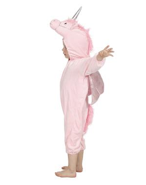 Pink enhjørning kostume til børn