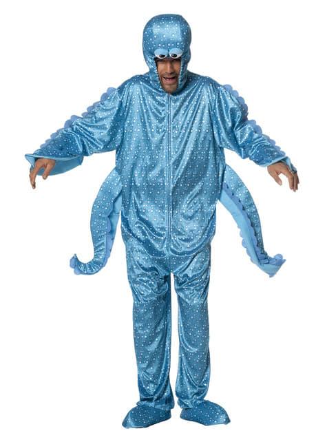 Blauw octopus kostuum voor volwassenen