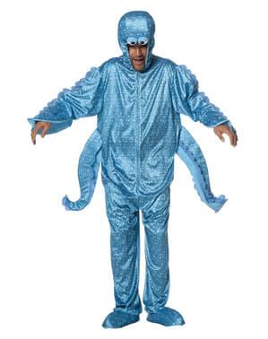 Disfraz de pulpo azul para adulto