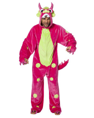 Rosa monster kostyme til voksne