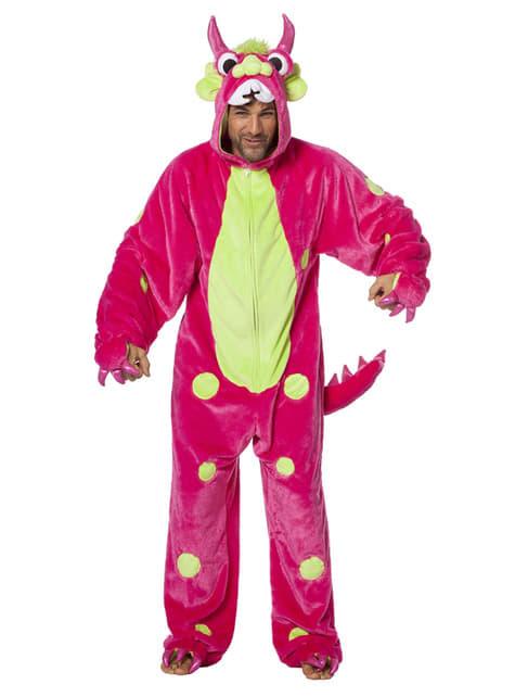 Disfraz de monstruo rosa para adulto - adulto