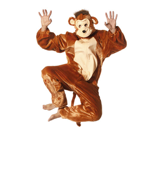 Fato de macaco onesie para adulto