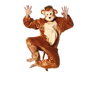 Costume da scimmia onesie per adulto
