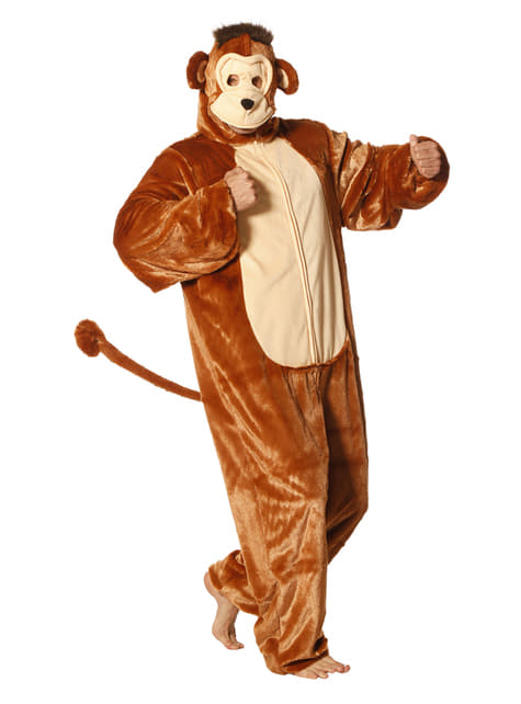 Monkey onesie costume for adults