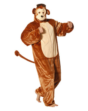 Disfraz de mono onesie para adulto