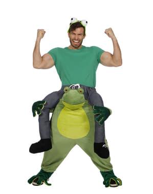 Costum ride on de broască pentru adult