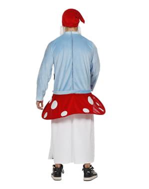 Disfraz de gnomo sentado sobre seta para adulto