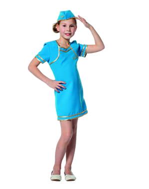Costum de stewardesă de avion pentru fată
