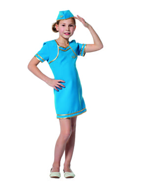 Flugbegleiterin Kostüm für Mädchen