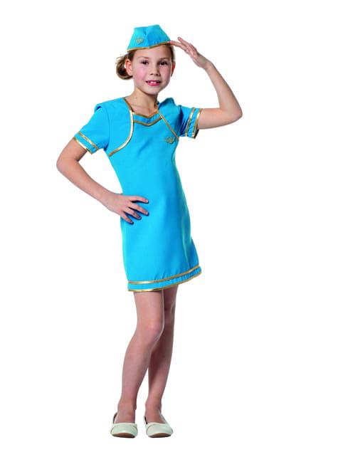 Disfraz de azafata de avión para niña - niña