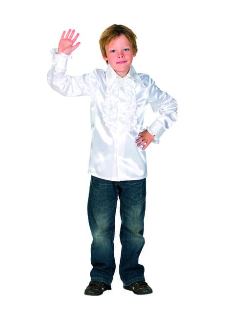Camisa disco de los 70's blanco infantil - infantil