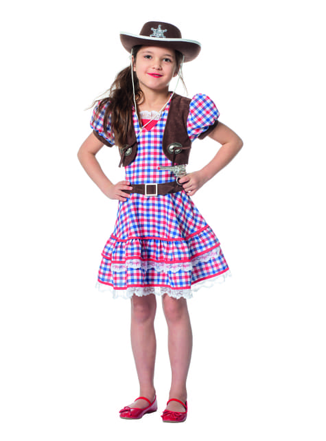 Red cowgirl costume for girls
