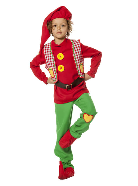 Red elf costume for boys