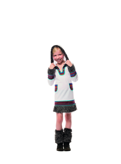 Disfraz de esquimal blanco para niña