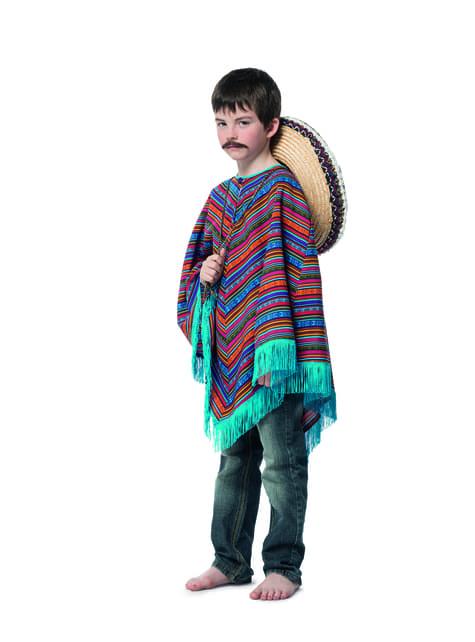 Poncho messicano pe bambino