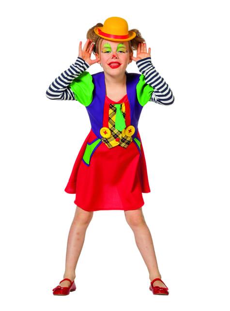 Clown Kostüm rot für Mädchen